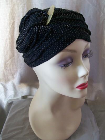 Vintage 1960s Christian Dior Burlap Straw Hat
