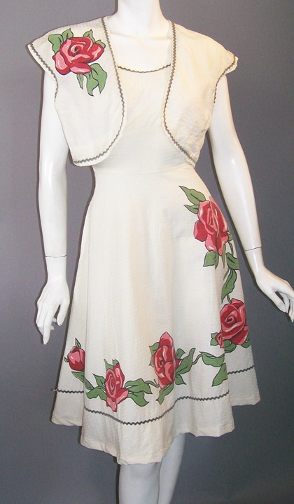 40s dress vintage sundress