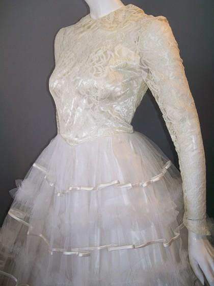 vintage wedding dress 50s wedding dress