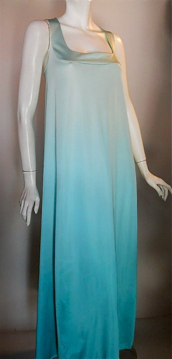 vintage vanity fair nightgown 70s vanity fair ombre dyed gown