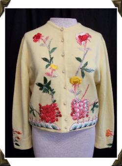 vintage 50's sweater HELEN BOND CARRUTHERS