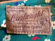 Vintage 30's MARTH GALE CARTWRIGHT label