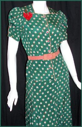 Vintage 30's Dress MARTHA GALE for CARTWRIGHT