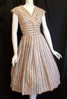 Vintage 50's Dress ANNE SUTTON Bird Print Dressaday