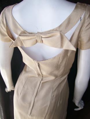 50's EMMA DOMB dress bow back