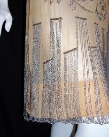 20's Vintage Flapper Dress RHINESTONES Loop Fringe Hem