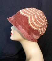 20's cloche of velvet and grosgrain