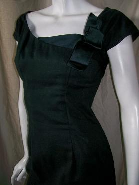 Vintage designer KAREN STARK for HARVEY BERIN little black dress