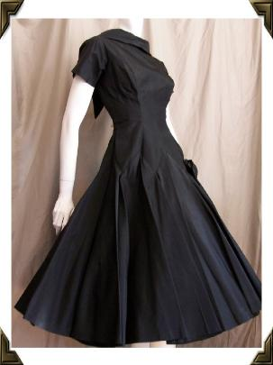 Vintage Party Dress SAMUEL GROSSMAN Black