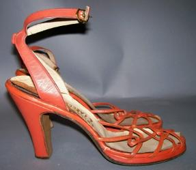 Orange 40s ANKLE STRAP Platform Shoes