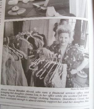 Dorothea's closet vintage press article
