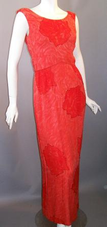 60s gown silk chiffon beaded robert goldberg