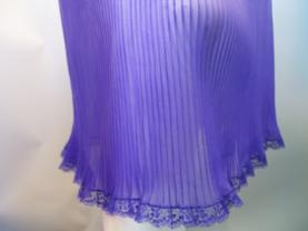 sheer pleated chiffon slip ombre purple