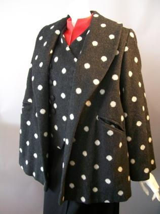 50s coat polka dot coat