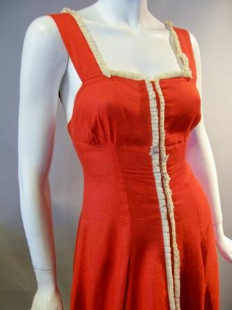 30s gown 40s gown red gown