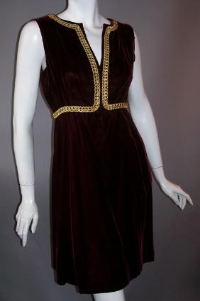 60s dress velvet dress