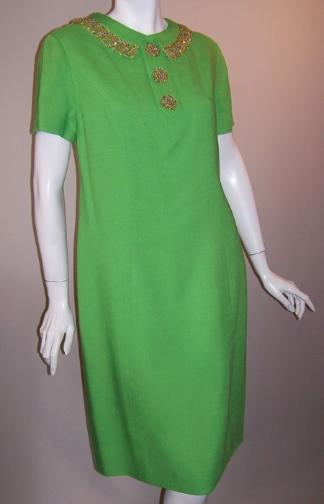 60s dress beaded dress vintage clothing