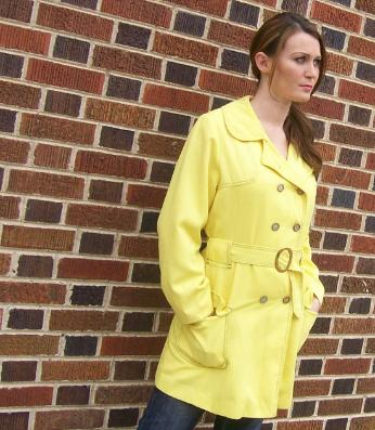 vintage clothing 70s mini trench coat