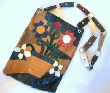 60s purse leather handbag patchwork leather