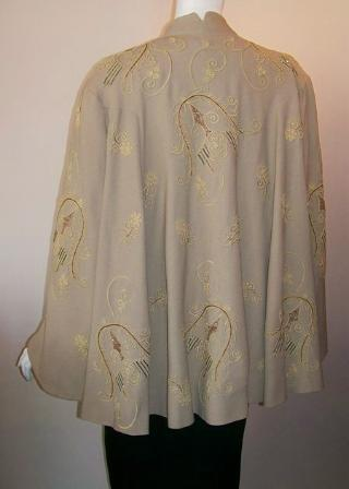 40s coat vintage swing coat beaded coat dolores of california