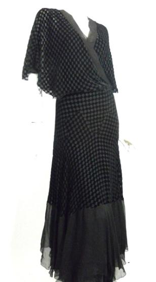 30s gown deco gown velvet gown