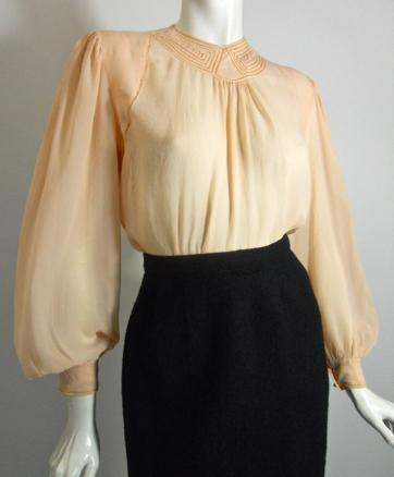 30s blouse deco blouse vintage clothing