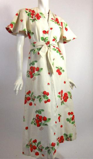 40s dress house dress dressing gown vintage dress