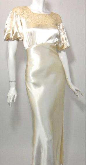 30s wedding gown