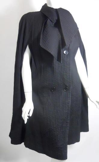The Bunk Haus \u2022 VINTAGE Retro Steppin/' Out Black Velvet Cover Coat Jacket Overcoat Size X X