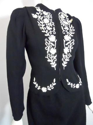 black jacket 40s jacket wallis simpson