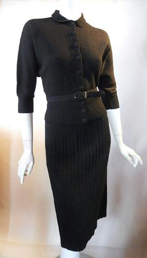 40s dress vintage dress gloria swanson dress