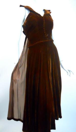 Dorothea\'s Closet Vintage Dress 40s Dress Vintage Clothing 40s Gown