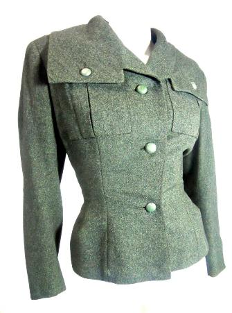 Dorothea's Closet Vintage jacket, 1940s Christian Dior, New Look, nipped waist jacket, 40s jacket