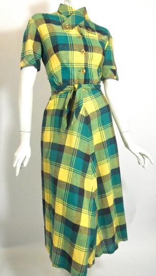 40s dress day dress vintage clothing