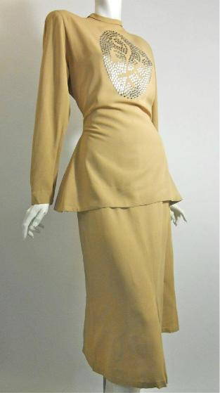 40s dress kay collier vintage dress