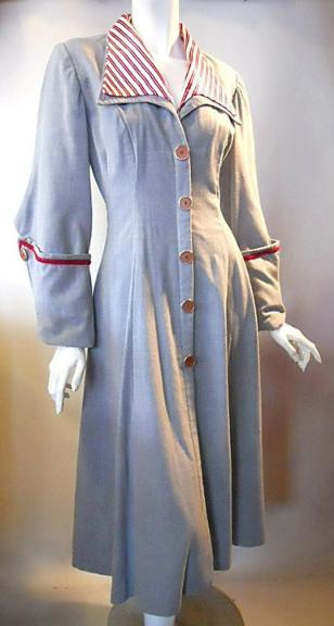 40s coat vintage coat new look coat princess seams