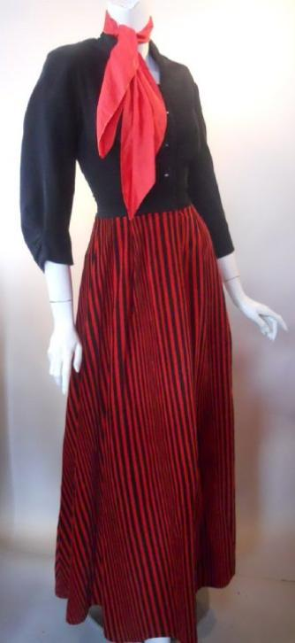 40s dress dressing gown vintage clothing