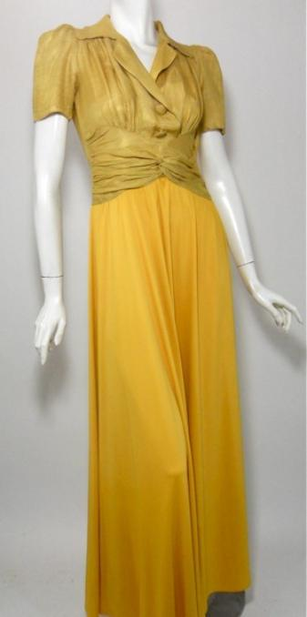 vintage gown 40s gown