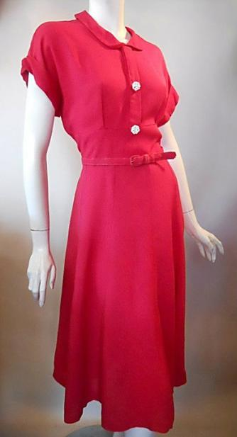 40s dress vintage clothing