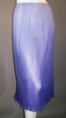 vintage crystal pleat slip ombre purple michelene
