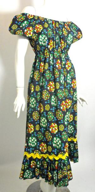 50s dress peasant dress vintage dress sophia loren