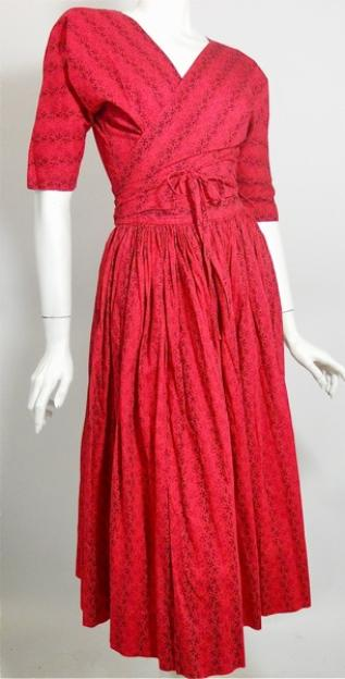 50s dress wrap dress mcmullen dress