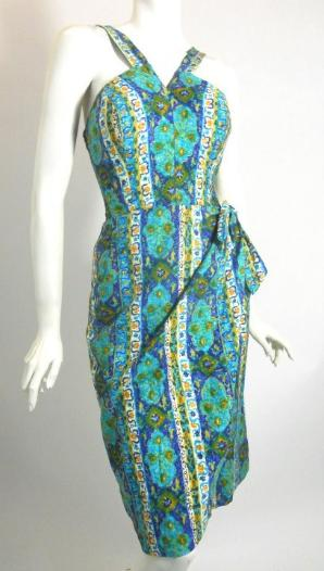 50s dress vintage dress alfred shaheen style swim dress