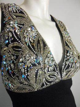 60s gown rhinestone gown mr. blackwell custom label