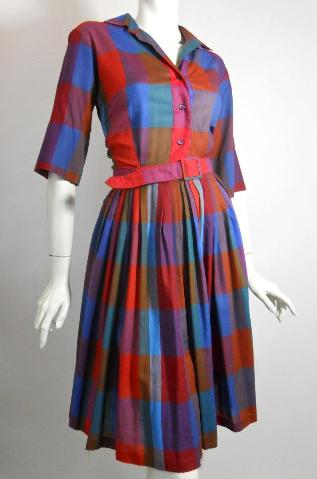 60s dress shirtwaist dress