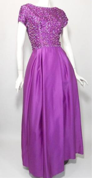 vintage gown sequined gown vintage clothing