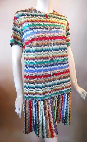 missoni style 60s dress vintage clothing