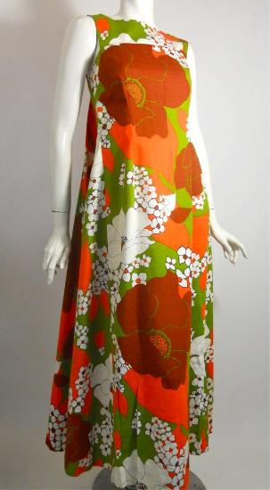 60s dress vintage dress hawaiian dress