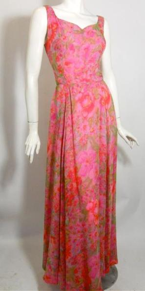 silk gown vintage clothing