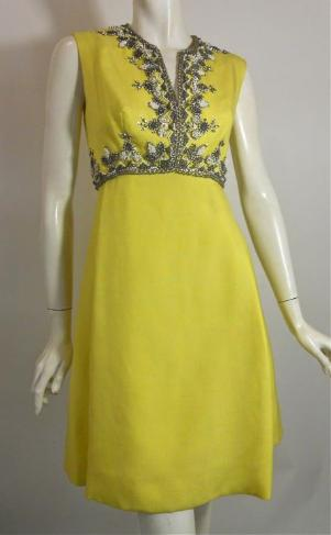 60s beaded dress cocktail dress